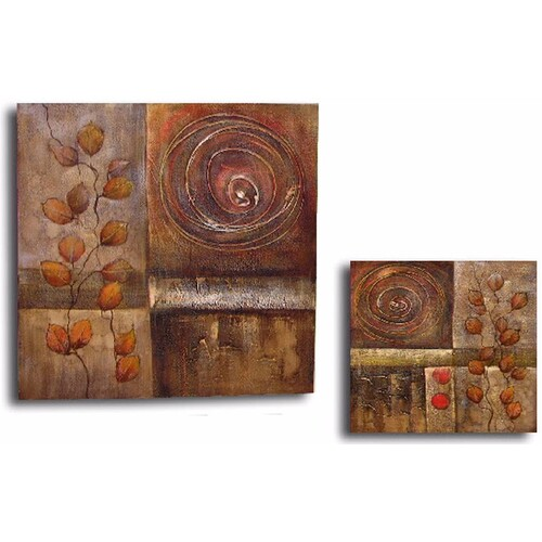 Pack 2 cuadros Espiral Hojas