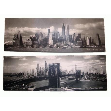 Pareja de dos cuadros New York